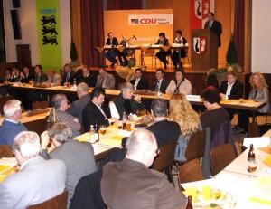 Kreisparteitag: Blick auf das Podium